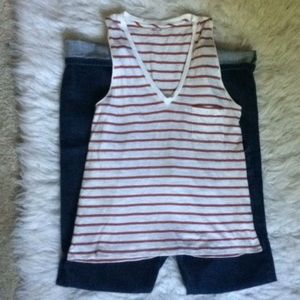 Madewell striped sleeveless top size xs